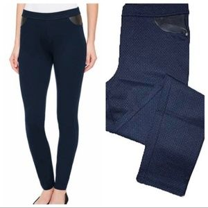 DKNY Women's Pull-On Ponte Blue Pants Jegging LG